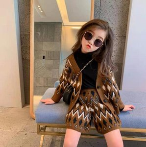 A110 Girls suit new spring clothes female baby fashion tooling jacket + pants two-piece suit