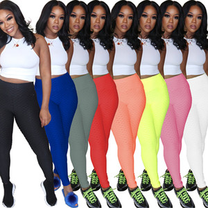 Plus size 2XL Women leggings casual sports yoga Pants skinny yoga leggings solid color stretchy sports pants summer clothing DHL Ship 4584