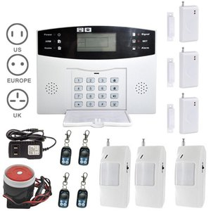 Burglar Alarm System LCD Wireless GSM Auto Sensor Bewegung Home Security Kits Türfenster Detektor Alarmanlage Kits DJA88