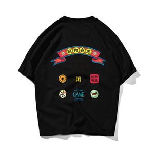 Homens Camiseta Vintage Tshirt Manga Curta Pescoço T-Shirts T-shirt Pure Algodão Vestuário de Verão Casual Tee