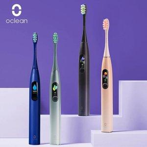 خصم 50٪ على OCLEAN X برو النسخة العالمية سونيك الكهربائية فرشاة الأسنان الكبار IPX7 الموجات فوق الصوتية التلقائي فرشاة الأسنان شحن سريع مع شاشة تعمل باللمس