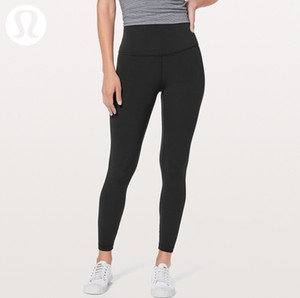 Lu Same Yoga Pants Double Side Brushed Women's Sports Pocket with Naked Peach Hip Fitness