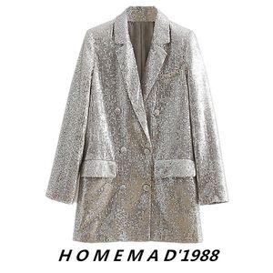 Женские костюмы Blazers Superaen Spring Style Стиль Silvin Вышивка Вышитая Двухборнящаяся Полная Куртка Женщины