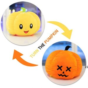 Party Supplies Halloween Reversible Toy Small Double-sided Flip Pumpkin Ghost Doll Soft Pillow Stuffed Plush Toys For Kids Gift HWE9776