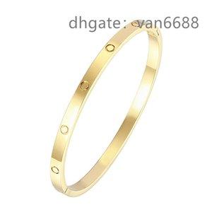 With box Ladies love rings Pendant Necklaces Screw carti Bracelet Van Party Wedding Couple Gift Bracelet Fashion Luxury Cleef Designer Bracelet aa3