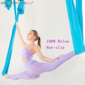 Fitness precedente 4m / 4.4 yards 5m / 5.5 yards 6m / 6.5yards 7m / 7.6yards yoga Amaca Tessuto Anti Gravity Aereo Attrezzatura Yoga Swing