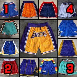 Basketball Shorts Stitched Performance Statement MiamiChicagoBullsLakersRaptorsMAGICjazz Retro Shorts Z8