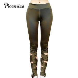 Picemice vendaje recortado deportes pantalones mujeres bailarina yoga pantalones alta cintura fitness cruz yoga ballet danza apretada deporte leggings