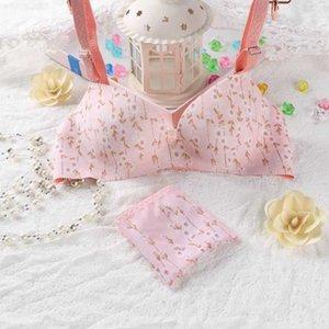 Kawaii pushout underwear Бесшовные подростки Девушка Интимает Сексуальное Симпатичное женское белье наборы волнимых трусиков EE