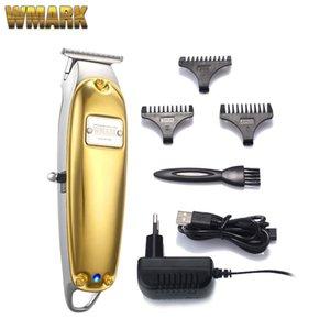 WMARK NG-2021 All-Metal Altın Şerit Kordon / Akülü Detay Triimer T-Blade Detaylandırıcı Ile USB Şarj 1400 mAh Yüksek Hızlı Motor 210302