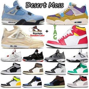 Retro 4 Sail University Blue Jumpman 1s 4s Men Basketball Shoes Hyper Royal Shadow 2.0 Dark Mocha Silver Toe Twist 1 women mens Sports sneakers