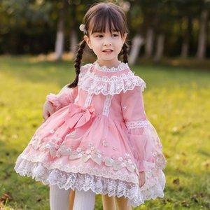 Miayii Baby Kleidung Spanische Lolita Princess Ballkleid Spitze Bogen Nähen Süßes Nettes Kleid Für Mädchen Geburtstag Party Ostern Y3780