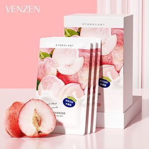 VENZEN 1 Box Peach Sleep Mask Cream Brighten Skin Facial Mask Cream Moisturizing Mask Cream Skin Care