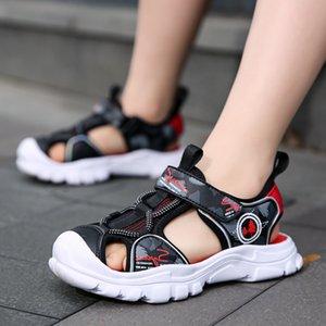 ULKNN Boys Sandals Summer New Children's Shoes Baby Baotou-Play Sports Girls Pink Ultra-Light Beach Blue size 27-38 210301