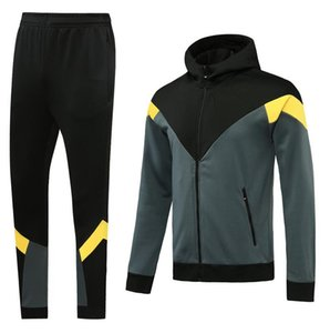 Custom classic style Hooded tracksuit jacket Maillot De Foot Survetement full Zipper Hooded tracksuit s-xl 0052