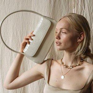 Clutch Bags 2021 Women Trendy Underarm Bag Square Shoulder Fashionable And Simple Baguette Crocodile Pattern Leisure Handbag