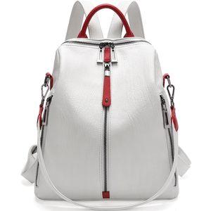 Real Leather Backpack Women Fashion White Designer s High Quality Mini Mochila Feminina School Bags 210911