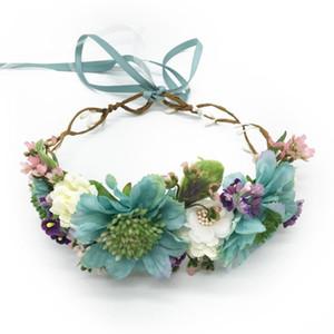 Fleur couronne couronne mariage fête cheveux accessoires fille fille fleur guidon bandeau floral guirlande femme coiffe ornements