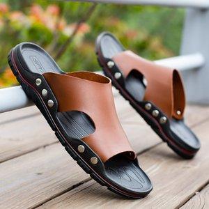 LEOSOXS Zapatillas Hombres Sandalias de verano Sandalias Playa Casual Flip Flobs Zapatos Non-Slip Interior House Home Slippers Shoes 210311