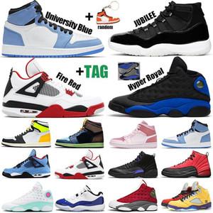 Новые мужские баскетбольные кроссовки jumpman 1s University Blue 11s Concord 12s Hyper Royal 13s Fire Red 4s 5s женские мужские кроссовки Спортивные кроссовки