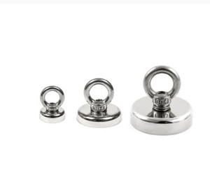 Strong Neodymium Magnet Salvage Magnet Deep Sea Fishing Magnets Holder Pulling Mounting Pot with Ring Eyebolt