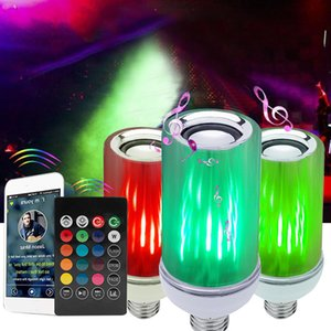 Light Bulb Bluetooth Speaker, 8W E26 RGB+W Changing Lamp Wireless Stereo Audio with 24 Keys Remote Control LED Bulbs 85V-265V Switch