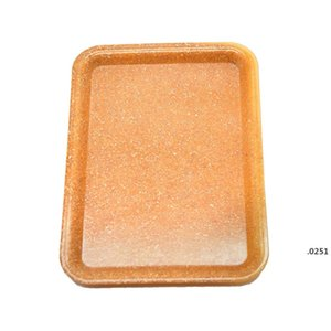 Tray Plastic Tobacco 18x12cm S Size Small Hand Tin Pure Color Case Spice Cartoon Plate Smoking 3 Colors FWD4869