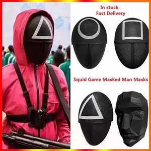TV Squid Game Masked Man Masks Round Squire Triangle Mask Accessories Delicate Halloween Masquerade Costume Party Props In stock DHL free