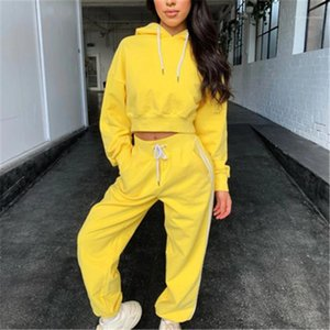 2Pcs Sets Fashion Trend Long Sleeve Round Neck Tops Drawstring Pants Tracksuits Spring Female New Plus Size Casual Suits Womens Solid Color