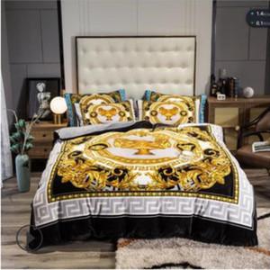 Beyaz Altın Avrupa Lüks Klasik Yatak Seti Kış Kalın Kadife Flanel Polar Nevresim Bed Keten Fitted Sac Pillowcases 201128