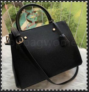 Luxurys Designers Bolsas Bolsas Montigne Bag Mulheres Tote Marca Carta Embossing Bolsas De Couro Genuíno Sacos Crossbody Bag N41056