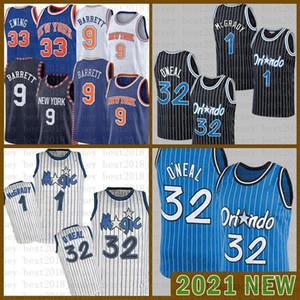 2021 men Basketball Jersey OrlandoMagic Mens NewYorkKnicks 32 O'Neal RJ 9 Barrett Patrick 33 Ewing Penny 1 Hardaway Whit