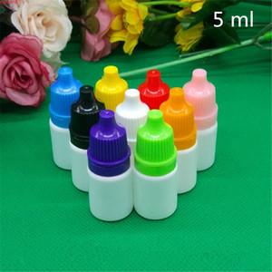 100pcs 5ml Empty White Plastic Small Essential Oil Bottles E Liquid Nicotine Packaging Perfume Mini Container Free Shippinghigh qualtity