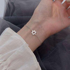 925 Sterling Silver six Star Bracelet for women in 2020