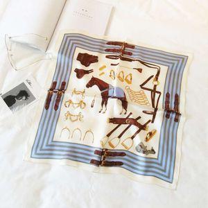 New h horse belt printing silk professional women's scarf