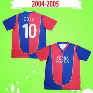 Cagliari 2004 2005 Retro Futbol Jersey Erkek Ev Kırmızı 04 05 Futbol Gömlek Klasik Hatıra Koleksiyonu Vintage Maglia Da Calcio Conti Zola Langella de Patre