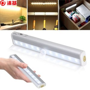 Wireless LED Under Cabinet Lights 6 10 LEDs Closet Light White Warm White Motion Sensor Activated Night Light for Kitchen Desk