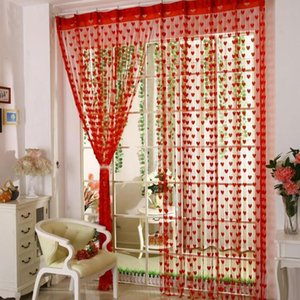 Curtain & Drapes 100*200cm Romantic Heart-Shaped String Sheer Window For Living Room Bedroom Treatments Panel