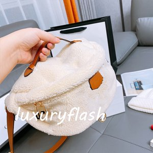 Original Hardware Soft Plush High Quality Genuine Teddy Men Chest Bag Bumbag Designers Crossbody Bags Purse Letter Tedy Luxurys Lambswool