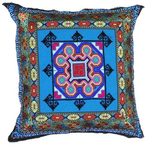 Pillow Case Pillow ethnic style hand cross stitch sofa car cushion cover zipper corePillow Case OJ4W