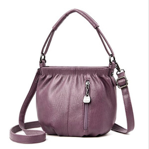 Ladies Handbags Ladies Leather Diagonal Shoulder Big Shopping Bag European and American Retro Large Capacity Bucket Bag Tote Bag