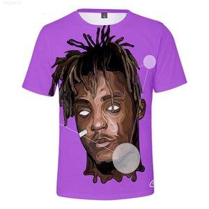 Short Rapper Juice Sleeve Wrld 3D T-shirt Print for Boys and Girls Casual Tees Streetwear Hip Hop Tshirt Children Kids Clothes