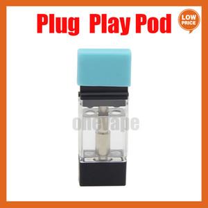 Plug Play Vape Pods Play Cartuccia della batteria Bobina di ceramica 1.0ml Atomizzatore di olio spessa Atomizzatore ad alte prestazioni VFIRE VAPORIZZATORE VAPORIZZATORE DELLA BATTERIA PLAY PLAY