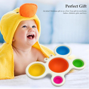 Stress Relief Squeeze Fingertip Fidget Simple Dimple Toy Baby Practice Board Big Crab Sensory Educational Learning Toy