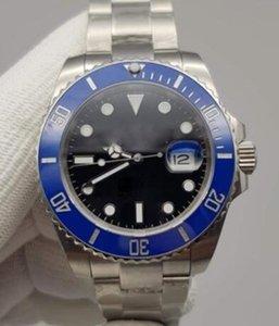 U1 Fabrika ST9 Çelik İzle Büyük 116610LN Otomatik Mekanik Siyah Kadran Safir Cam Tarih Seramik Saatler Erkekler Paslanmaz Saatı 41mm 116610 Glide Bilezik