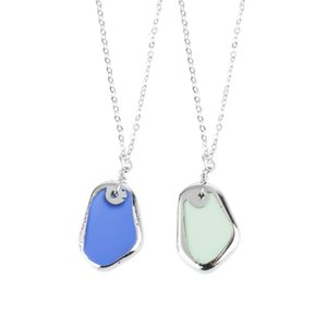 Gioielli popolari: collana di vetro, brezza marina, gioielli estivi per il tempo libero