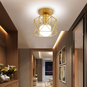 Ceiling Lights Retro Lamp For Entrance Aisle Corridor Nordic Iron Home Decro E27 LED Fixture Bedroom Porch 110-220V