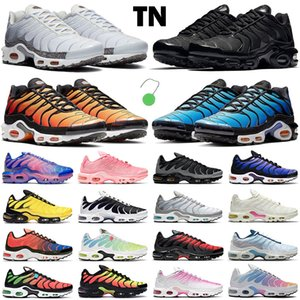 tn shoes Plus SE shoes hombre zapatos para correr triple negro blanco rojo Gafas 3D Hyper blue Spray paint mens trainer zapatillas de deporte transpirables