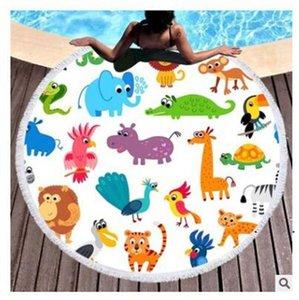 الصيف جولة شاطئ المناشف الفاكهة هندسية ماندالا دائرة حمام دش 150 * 150 سنتيمتر اليوغا حصيرة بطانية منشفة FWB7708