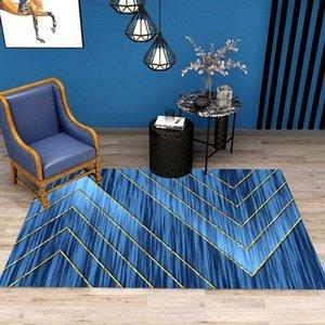 İskandinav tarzı ev halı büyük alan dikdörtgen geometrik desen kaymaz aşınmaya dayanıklı oturma odası dekor basit modern kilim
